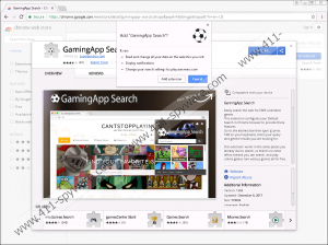 GamingApp Search Extension