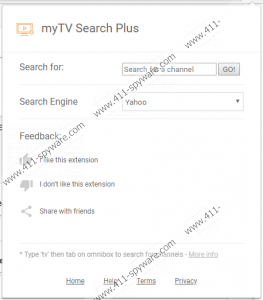 myTV Search Plus Extension