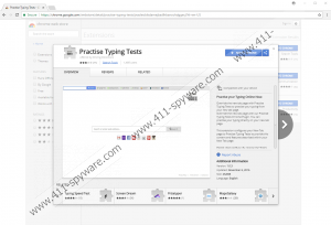 Practise Typing Tests Extension