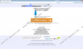 LiveRadioSweeper Toolbar