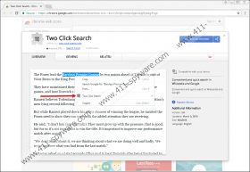 Two Click Search