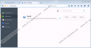 Your Email Accounts Toolbar