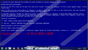 +1-833-889-1888 BSOD Fake Message