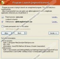 Program Launch [expired license] Virus
