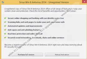 Sirius Win 8 Protection 2014