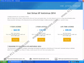 Sirius Win XP Antivirus 2014