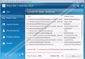 Sirius Win 7 Antispyware 2014
