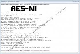 AES-NI Ransomware
